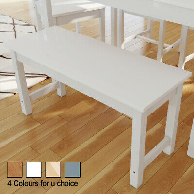 Wooden Bench Kitchen Dining Room Hallway Seat 2 People Solid Grey/White/Honey • 55.99£