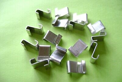 Greenhouse Glass Z Clips Glazing Polished Aluminum Greenhouse Spares 2 To 200  • 4.70£