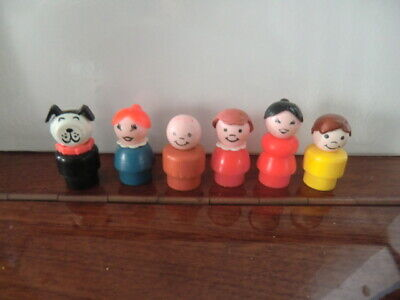 VINTAGE FISHER PRICE LITTLE PEOPLE Characters X6 • 4£