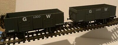 2 Dapol GWR 20T Mineral Wagons Loco Coal , Boxed • 15£