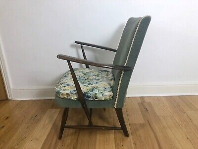 Ercol Windsor Vintage Retro Elm & Beech Armchair Blue Label FREE LOCAL DELIVERY • 125£