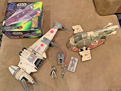 $ CDN33.14 • Buy Vintage Star Wars B-wing And Slave 1 And A-wing In Box Deluxe Boba Fett