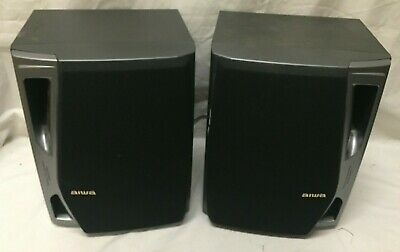 $59.95 • Buy Vintage Pair Aiwa Speakers ~ SX-NA74 ~ Twin Duct 3-Way Bass Reflex ~ 120 Watt!!