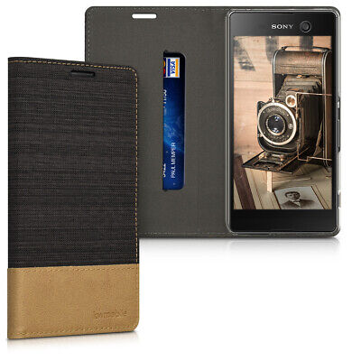 AU13.99 • Buy Wallet Case For Sony Xperia M5 In PU Leather And Fabric