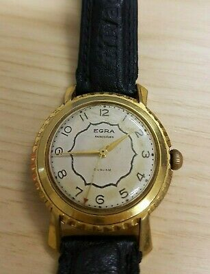 Ultra Rare Antique 1920's EGRA Manual Gold-Plated 35mm Beige Lovely Gents Watch • 120£
