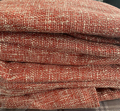 NEXT Red Bouclé Woven Lined Eyelet Curtains 135cm X 229cm /53 X90  • 45£