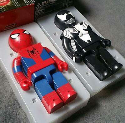 $380 • Buy Bearbrick Kubrick 400% Venom & Spiderman Set Marvel