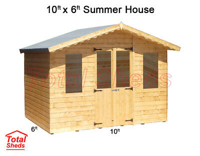 10 X 6 SUPREME SUMMER HOUSE LOG CABIN WOODEN SHED TOP QUALITY GRADED TIMBER • 855.10£