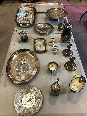 $ CDN132.55 • Buy Lot Of Assorted Sterling Silver Plates, Platters, Trays, Etc. - Various Brands