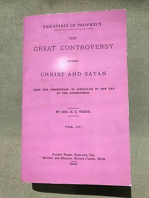 $4.99 • Buy The Great Controversy Between Christ And Satan, Mrs.E.G.White Vol IV, Paperback