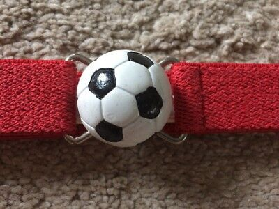 """$6.99 • Buy Boutique Toddler Kids Soccer Ball Clasp Adjustable Belt Red """"Fits All Sizes"""""""