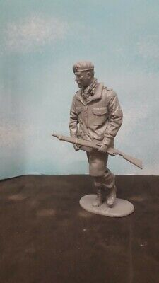 1/16 120mm WW2 BRITISH PARA PARATROOPER RED DEVIL WITH SMLE & BERET SOLDIER • 11.99£
