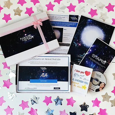 £12.99 • Buy Personalised Guardian Gifts For Her Christening Name A Star Box Set Godparent