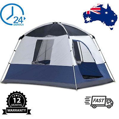 AU129.80 • Buy  4 PERSON FAMILY CAMPING TENT Outdoor Four Man Backpacking Instant Tents Weishor