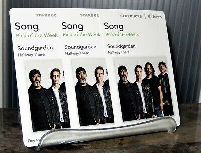 AU10.45 • Buy SOUNDGARDEN Halfway There 2012 ITunes STARBUCKS DOWNLOAD CARD X3 Chris Cornell