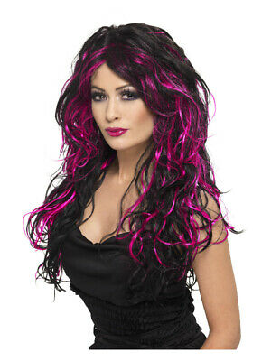 Wig Ladies Gothic Ombre Cosplay Witch Long Wavy Curly Fancy Dress Costume New • 10.99£