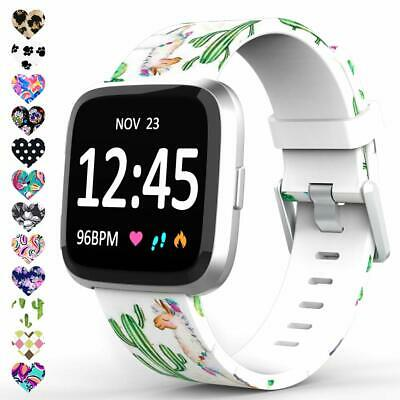 $ CDN14.32 • Buy Bands For Fitbit Versa Lite SE,Silicone Pattern Printed Replacement Floral Strap
