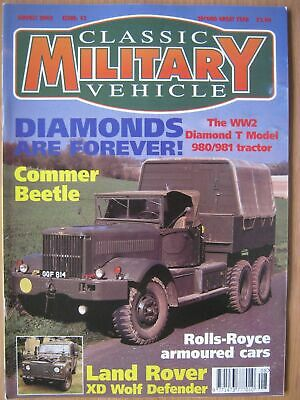 Classic Military Vehicle August 2002 Diamond T 980 981 Commer Beetle Land Rover • 4.99£