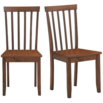 $109.95 • Buy Set Of 2 Dining Chair Kitchen Spindle Back Side Chair W/Solid Wooden Legs Walnut