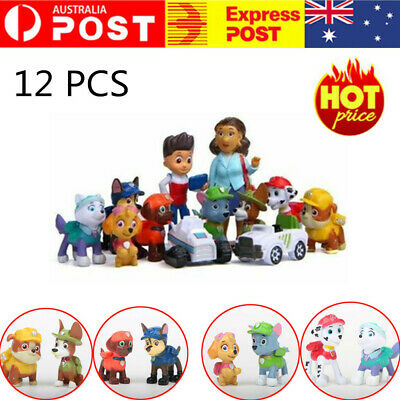 AU16.89 • Buy 12pcs Paw Patrol Dog Puppy Rescue Figure Set Action Toys Figurine Character Gift