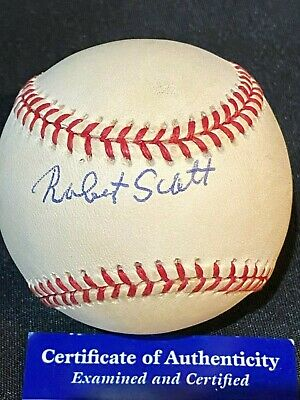 $ CDN66.15 • Buy Robert Scott Autographed ROAL Baseball - Negro League Star - PSA/DNA