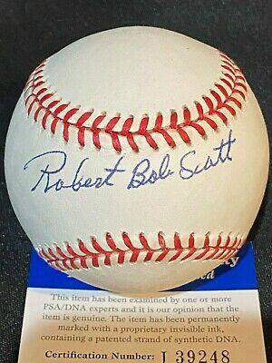 $ CDN66.15 • Buy Robert Bob Scott Autographed ROAL Baseball - Negro League - Full Name PSA/DNA