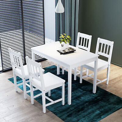 Dining Room/KitchenTable And Chairs Bench Set 6 Seat Quallty Wooden Cholce White • 177.99£