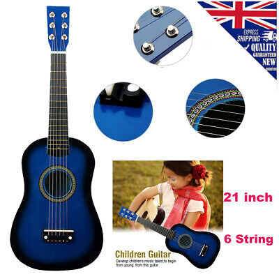 21  Inch Children Guitar Wooden Acoustic Musical Instrument Toy Gift Brand New • 9.98£