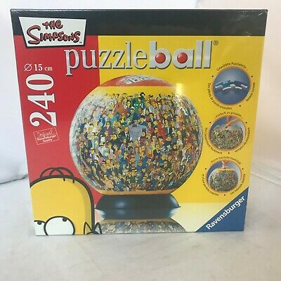 $26.95 • Buy Ravensburger The Simpsons - 240 Piece Puzzleball NEW SEALED NIB