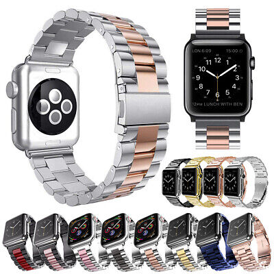 $ CDN15.33 • Buy For Apple Watch Series 5 4 3 2 1 Stainless Bracelet Strap Metal Band 40mm 44mm