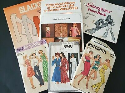 $17 • Buy Lot Of Vintage Viking Butterick Sewing Patterns And Books