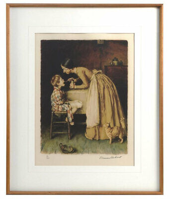 $ CDN1898.19 • Buy Norman Rockwell  The Medicine  Lithograph On Paper H/s & Numbered Framed Coa