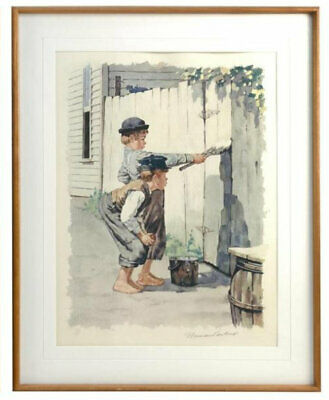 $ CDN1898.19 • Buy Norman Rockwell Whitewashing Fence Lithograph On Paper H/s & Numbered Framed Coa