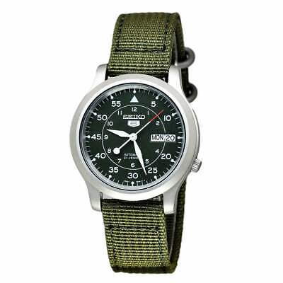 £109 • Buy Seiko 5 Automatic Military Style Green Men's Watch SNK805K2 RRP £169