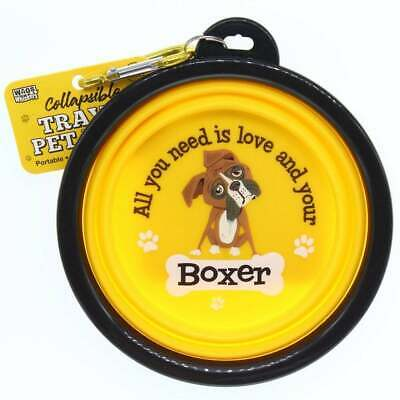 Boxer Dog Bowl Collapsible Travel Gift/Present • 5.99£