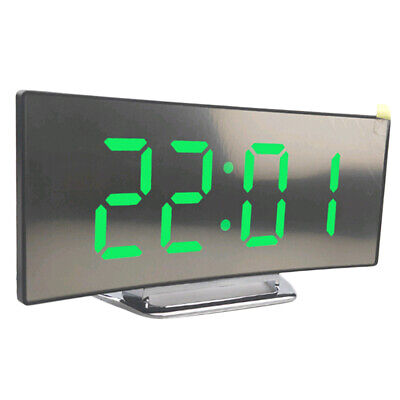 Led Display Alarm Clock Digital Projection Clock W/ 12/24 Hours, Easy To Operate • 11.66£
