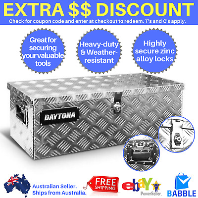 AU138.97 • Buy Aluminium Ute Tool Box Storage Heavy Duty Lock Toolbox Organiser Truck Trailer