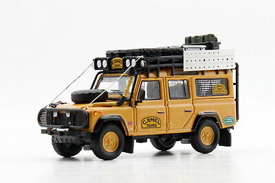 1/64 Scale Land Rover Defender 110 Camel Trophy Yellow Diecast Car Toy Gift • 30.85£