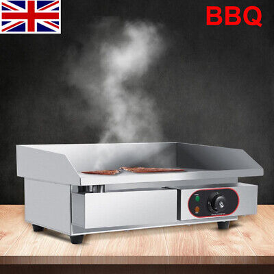 3000W Commercial Electric Griddle Countertop Hotplate BBQ Grill Stainless Steel • 68.99£