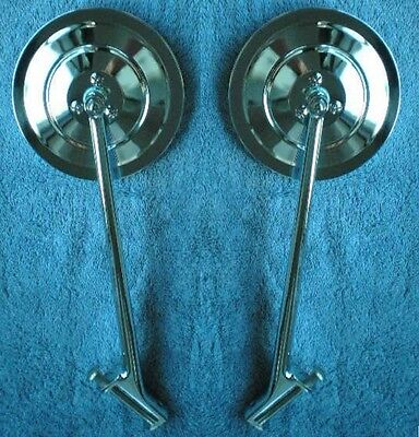 $140 • Buy 5  Ribbed 1935-1947 Ford Truck  New Larger Size Mirrors Pair 1939 1946 Hinge Pin