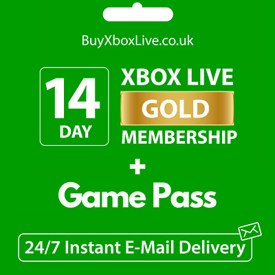 $3.75 • Buy XBOX LIVE 14 Day GOLD + Game Pass (Ultimate) Trial Code INSTANT DISPATCH