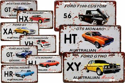 AU14.95 • Buy Ford Holden Aussie Muscle Car Tin Sign License Plate Garage Bar Man Cave Shed AU