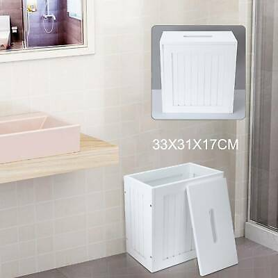 White Wooden Small Toilet Cleaning Product Bathroom Storage Tidy Box Unit UK • 22.89£