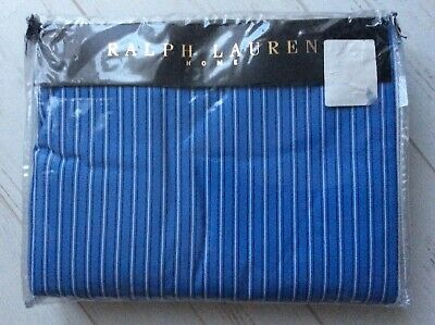 Ralph Lauren Duvet Cover. Driver Stripe. Blue. Quality Cotton Bedding. NEW • 125£
