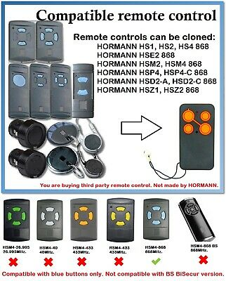£11.74 • Buy Remote Control Duplicator Compatible With Hormann/Garador 868MHz. (Blue Buttons)