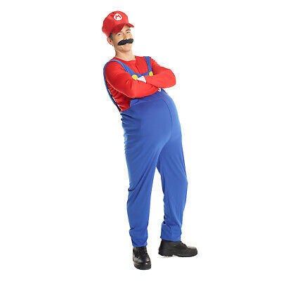 $24.95 • Buy Mens Super Mario Bros MARIO Fancy Dress Costume Adult  Red  Plumber Outfit