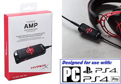 HyperX Amp Pro Gamer V7.1 USB Stereo Surround Sound Card Headset Adapter PC PS4 • 65.72£