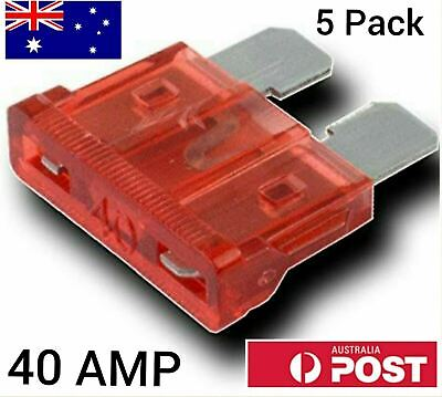 AU3.95 • Buy 5pcs 40A 40Amp Regular Standard Blade ATO Fuses For Cars Trucks Auto Orange
