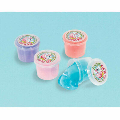AU16.50 • Buy Unicorn Party Supplies Favours GLITTER PUTTY Pack Of 12