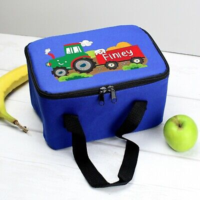 AU28.21 • Buy PERSONALISED Kids School Pack Lunch Bag - Boys Tractor Packed Lunch Dinner Box